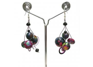 Pendientes ciruela Twist - 4 cm - Winter nights