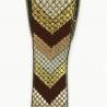 Cinta etnica satinada y bordada Babachic/Moodywood - Flechas - Marrón, blanco y dorado - 35 mm