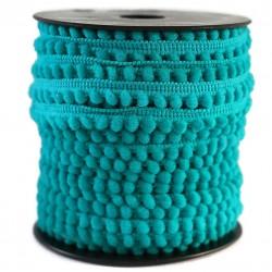 Gálon de mini pompones  - Aguamarina - 10 mm