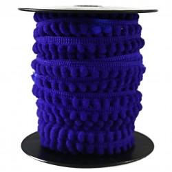 Gálon de mini pompones  - Azul - 10 mm