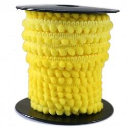 Gálon de mini pompones  - Amarillo limón - 10 mm