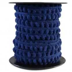 Gálon de mini pompones  - Azul marino - 10 mm