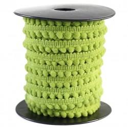 Gálon de mini pompones  - Verde anís - 10 mm
