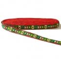 Bordado Morpion - Verde, amarillo, blanco y rojo con espejos - 20 mm