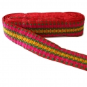 Bordado Tramway - Rosa, amarillo, verde y rojo - 50 mm