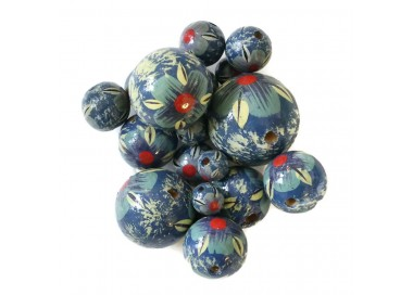Cuentas de madera - Hibiscus - Azul cielo