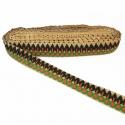 Galón bordado - Línea de hojas - 30 mm