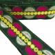 Bordado gráfico - Galactica - Verde, rosa, blanco y amarillo - Babachic/Moodywood - 65 mm