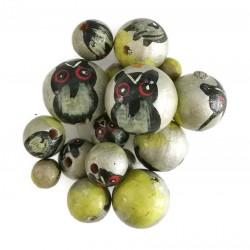 Owl wooden beads