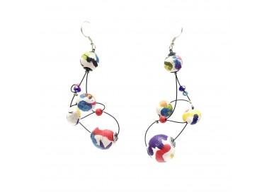Pendientes Loop 7 cm - Multicolor - Splash