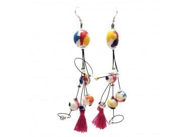 Pendientes Pampille 12 cm - Multicolor - Splash