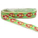 Bordado gráfico - Cosmos - Rosa, verde y amarillo - Babachic/Moodywood - 40 mm