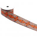Cinta gráfica - Azteca - Naranja, negro y plateado - 45 mm