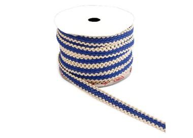 Galón étnico - Azul y beige - 15 mm