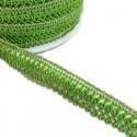 Cinta satinada - Clave de sol - Verde - 15 mm