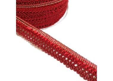 Cinta satinada - Clave de sol - Rojo - 15 mm