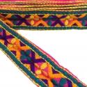 Bordado - Trébol - Azul, amarillo, morado, naranja y rosa - 45 mm