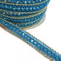 Galón azul y plateado - 10 mm