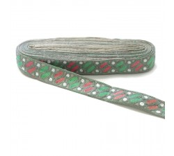 Bordado étnico - Dragibus - Gris, verde, rosa y blanco - Babachic/Moodywood - 30 mm