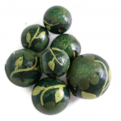 Cuentas de madera - Peltée - Verde oscuro
