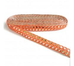 Galón espejos - Doble línea - Naranja - Babachic/Moodywood - 30 mm