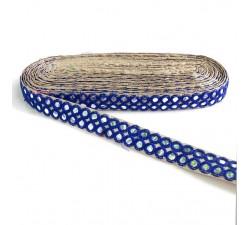 Galón espejos - Doble línea - Azul - Babachic/Moodywood - 30 mm