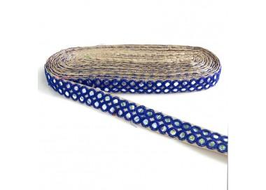 Galón espejos - Doble línea - Azul - 30 mm