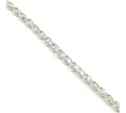 Galón Indio - Diamantes - Plateado - 6 mm - Babachic/Moodywood