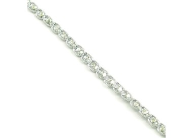 Galón Indio - Diamantes - Plateado - 6 mm