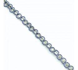Galón Indio - Diamantes - Azul y plateado - 6 mm - Babachic/Moodywood
