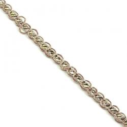 Galón Indio - Diamantes - Dorado y marrón - 6 mm - Babachic/Moodywood