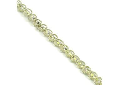 Galón Indio - Diamantes - Dorado - 6 mm