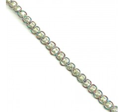 Galón Indio - Diamantes - Multicolor y dorado - 6 mm - Babachic/Moodywood