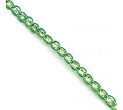 Galón Indio - Diamantes - Verde y plateado - 6 mm - Babachic/Moodywood