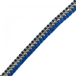 Cinta de flecos de algodón azul marino y dorado - Babachic/Moodywood - 15 mm