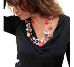 Kits collar DIY - Sautoir - Magenta