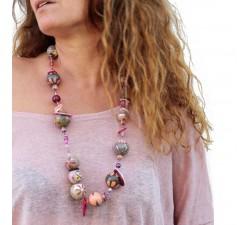 Kits collar DIY - Midshort - Rosa gris