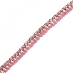 Cinta de flecos de algodón rosa y dorado - Babachic/Moodywood - 15 mm