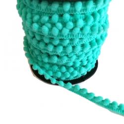 Gálon de mini pompones  - Laguna - 10 mm