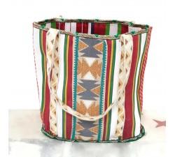 imagen bolsa de playa bohochic ibiza style blanco babachic moodywood Bolsa Bohemia - Rojo y blanco
