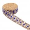 Tul bordada con lentejuelas - Azul - 50 mm