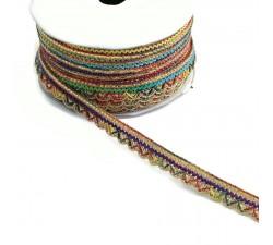 Galón Indien - Multicolor - 10 mm