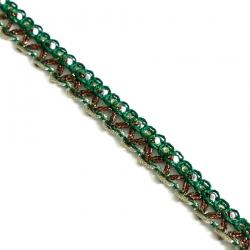 Galón Indien - Verde y bronze - 10 mm