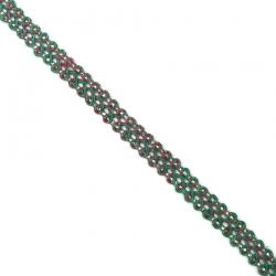Galón Indien - Verde y rosa - 10 mm