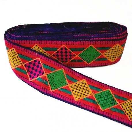 Bordado Babachic/Moodywood - Rombos multicolores - Circus - 65 mm